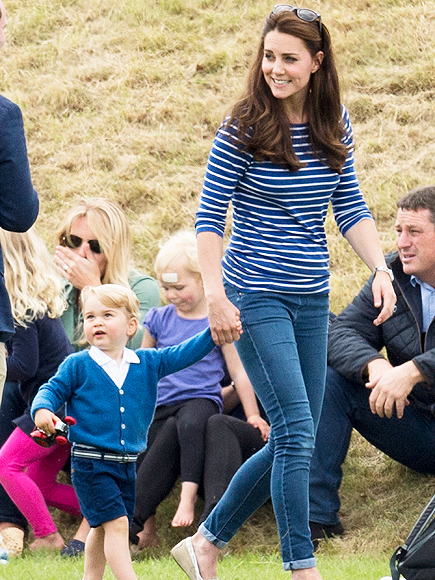 Princess Kate Tells a Young Boy Named George, 'Good Name!'