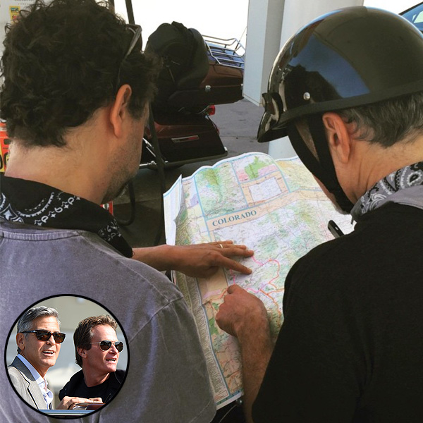 George Clooney Goes on a Motorcycle Road Trip with Rande Gerber and Pals