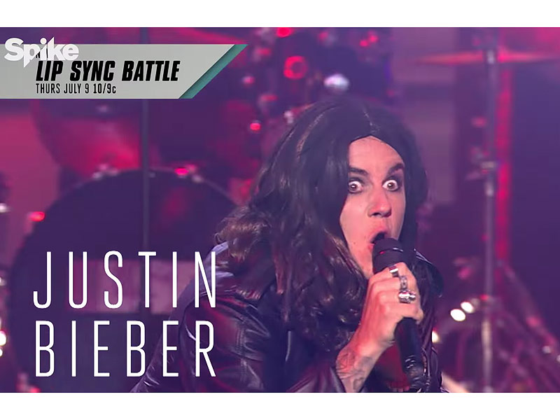 Justin Bieber Rocks Some Serious Eyeliner As Ozzy Osbourne ...