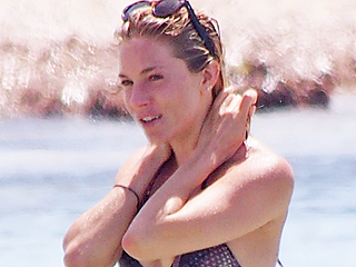 Sienna Miller Gets in the Summer Spirit in a Sexy Snakeskin-print Bikini During Ibiza Vacation