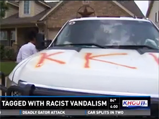 Texas Couple Claims Truck Defaced with 'KKK' Graffiti After Black Friend Visits