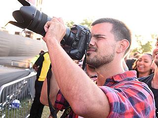 Budding Photographer? Taylor Lautner Shoots Nicki Minaj at London Music Festival