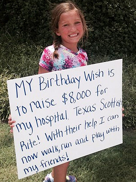 Texas Girl with Rare Disorder Raises Funds for Hospital That Helped Her Walk
