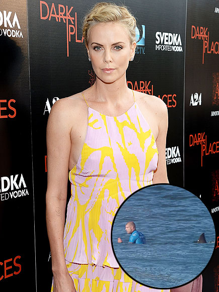Charlize Theron Reacts to Mick Fanning Shark Attack in South African Beach