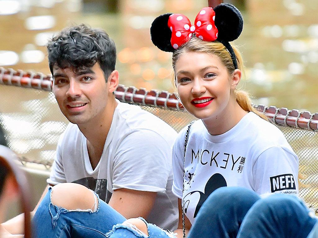 Gigi Hadid and Joe Jonas Visit Disneyland