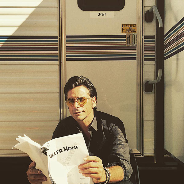 John Stamos as Uncle Jesse on the Fuller House Set