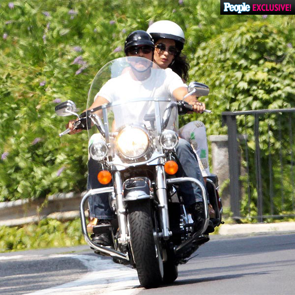 George & Amal Clooney Enjoy Motorcycle Ride in Italy: Photo