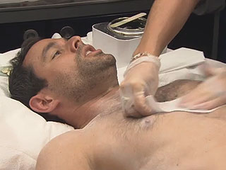 Catherine Lowe Makes Jason Mesnick Wax His Chest on Bachelor-Themed Celebrity Wife Swap