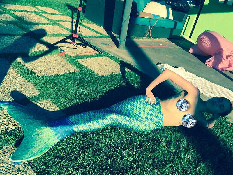 Miley Cyrus Wears Mermaid Tail in New Pic