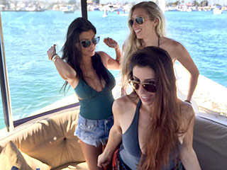 Kourtney Kardashian Wears a One-Piece Swimsuit While Boating with Friends After Ex Scott Disick's Mysterious Instagram Post
