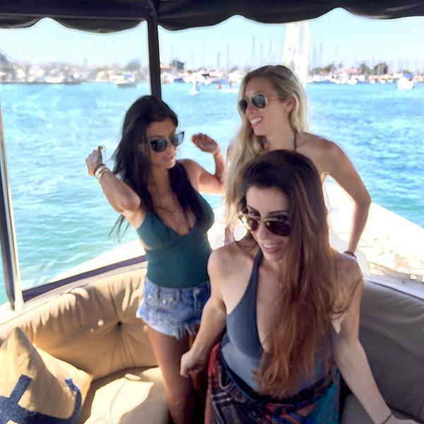 Kourtney Kardashian Goes Boating in New Pic