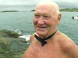 79-Year-Old Norwegian Man Swims Across Fjord to Own Wedding