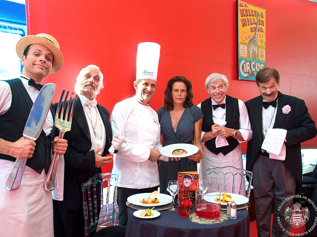 Princess Stephanie Rules at Circus Dinner Show in Monaco