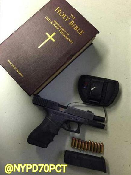 Brooklyn Police Find Loaded Gun Hidden in Fake Bible