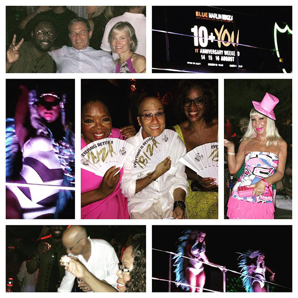 Oprah and Gayle King Clubbing in Ibiza