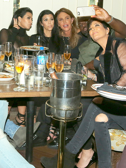 Kris Jenner and Boyfriend Corey Gamble Smile in Photo with Caitlyn Jenner