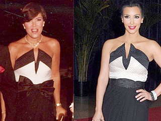 Now It's Kopy Kat Kim! Kris Jenner Shares Snap Of Kardashian West Wearing Same Dress 30 Years Later