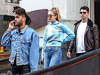 Gigi and Bella Hadid Bring Mom Along for a Birthday Double-Date in New York City