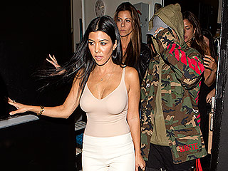 Kourtney Kardashian Catches a Ride Home from a Club with Longtime Family Friend Justin Bieber