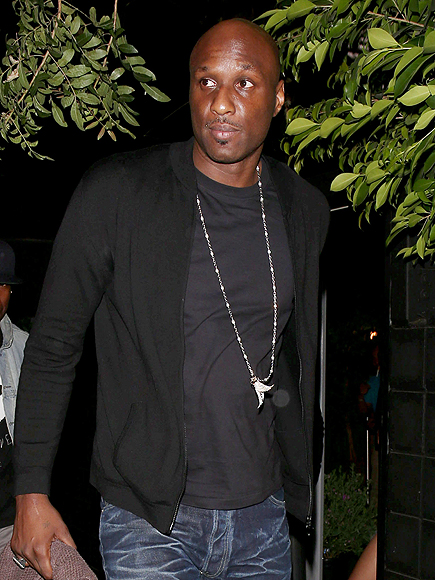 Lamar Odom Outside of Hospital After Accident: Photos