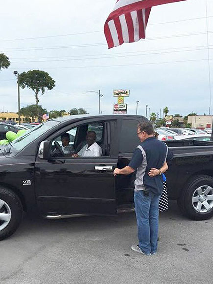 Man Who Walked Miles to Mow His Customers' Lawns Is Surprised with Truck