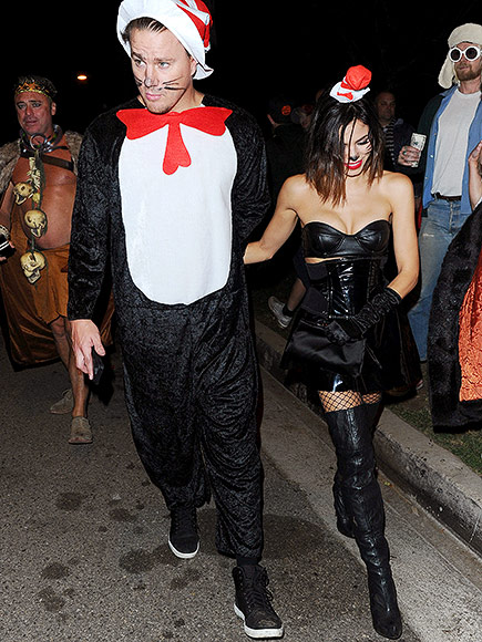 Sexy Seuss! Channing Tatum and Jenna Dewan-Tatum Attend Celeb-Filled Halloween Party as Matching Cats in the Hat