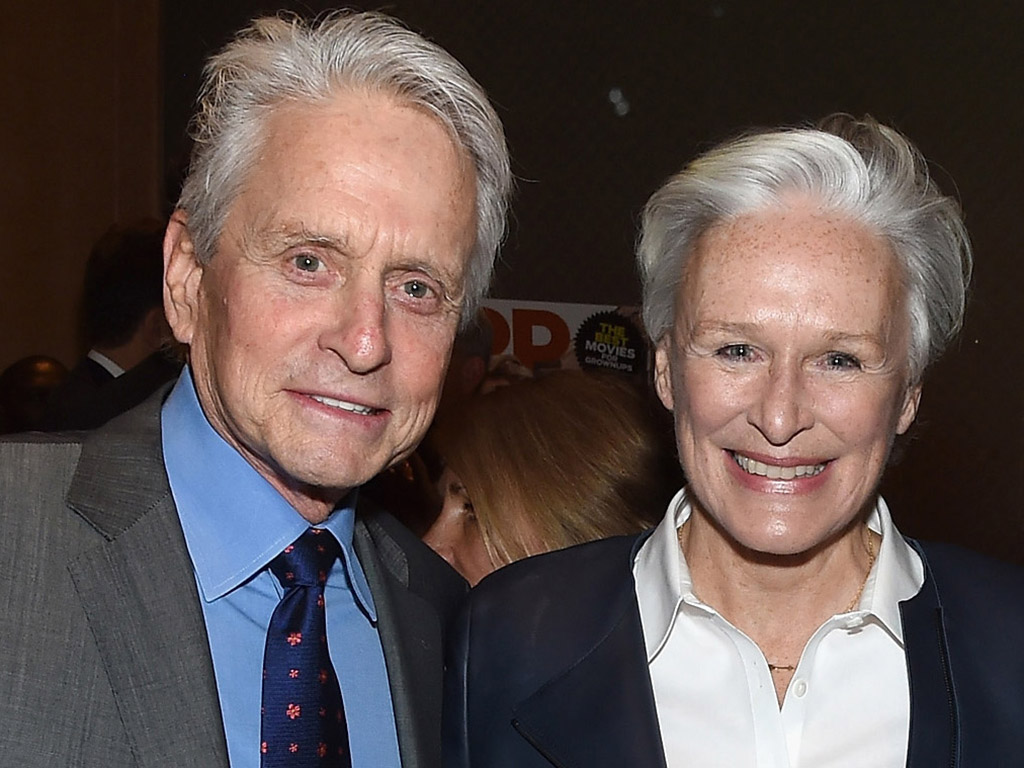 Photo of Glenn Close & her friend  Michael Douglas
