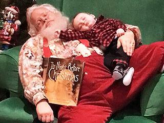 Kid Sleeps Through His Visit with Santa, Still Gets Cutest Photo Ever