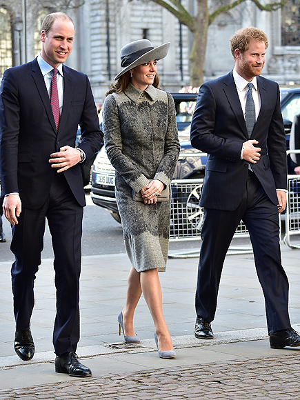 Princess Kate, Prince William, Prince Harry Join Queen Elizabeth for Service