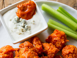 Score Big Points at Your Super Bowl Party with These Buffalo Chicken Poppers