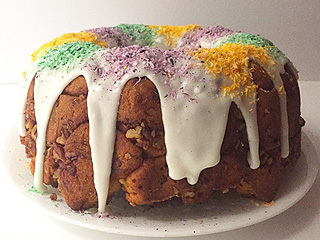 They Don't Call it Fat Tuesday for Nothing! Celebrate with This Sticky-Sweet King Cake Monkey Bread