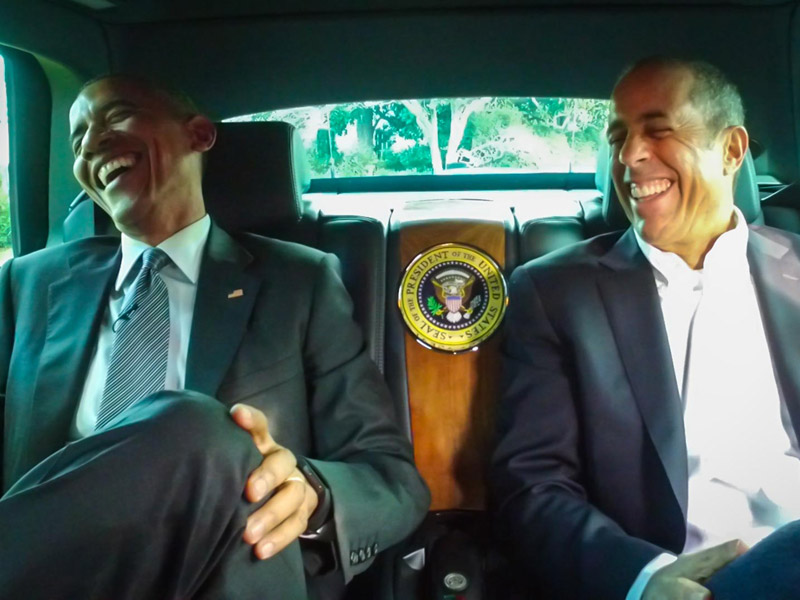 President Obama Appears on Jerry Seinfeld's Comedians in Cars Getting Coffee