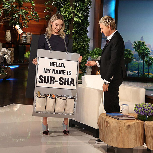 Ellen DeGeneres Teaches Us All How to Properly Say Saoirse Ronan
