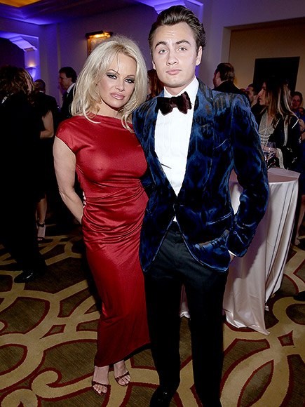 Pamela Anderson Brings Son Brandon Lee to Help Haiti Home Gala