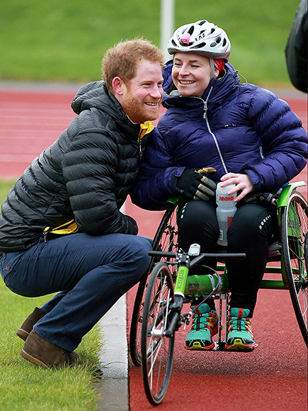 Prince Harry Helps Woman Who Fell From Wheelchair