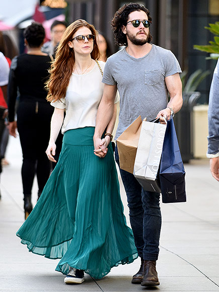 Game of Thrones' Kit Harington and Rose Leslie Hold Hands, Kiss in L.A.