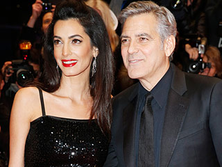 Amal Clooney Sparkles on the Red Carpet with George Clooney at Berlin Premiere of Hail, Caesar!