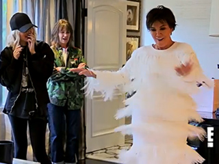 VIDEO: Kim Kardashian Jokes Kris Jenner Looks Like She's 'in a Car Wash' as She Tries on Dresses for 60th Birthday Party