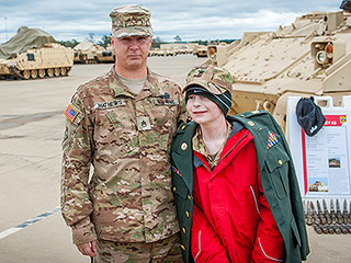 Meet Mr. Tank! Boy, 12, with Inoperable Brain Tumor Gets the Thrill of a Lifetime as He's Made a Tank Commander for a Day
