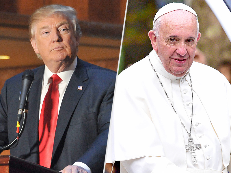 Trump Calls Pope Francis Disgraceful After Pontiff Says He Is Not Christian