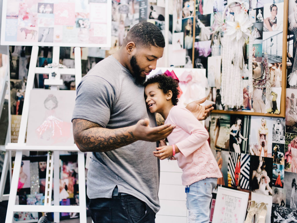 Leah Still Beats Cancer, Designs Own Flower Girl Dress for Her Dad's Wedding