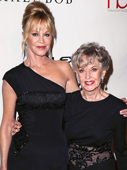 Melanie Griffith Attends Hollywood Beauty Awards with Famous Mom Tippi Hedren