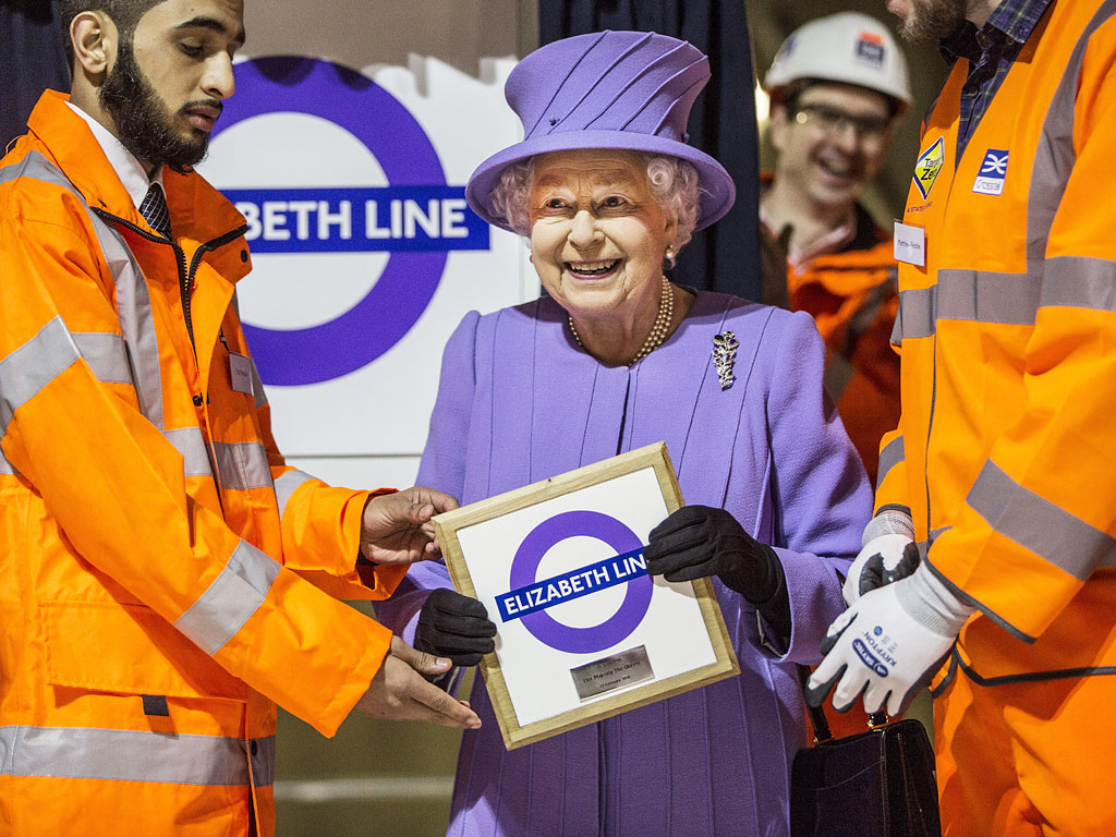 London's New Train Line Named After Queen Elizabeth