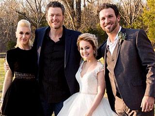 Blake Shelton Can't Keep His Hands Off Gwen Stefani at RaeLynn's Tennessee Wedding