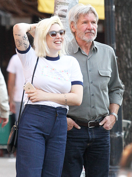 Harrison Ford and Daughter Georgia Go on Father-Daughter Lunch Date