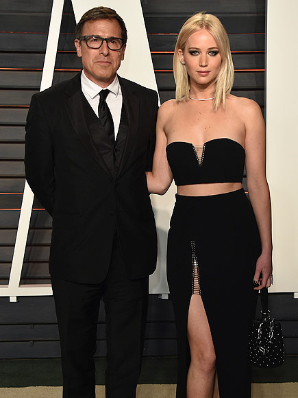 Oscars 2016: Jennifer Lawrence and David O. Russell Attend Vanity Fair Party