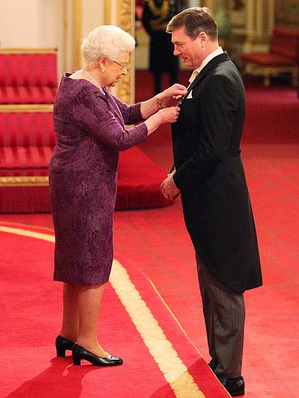 Queen Elizabeth Honors Royal Dressmaker Stewart Parvin
