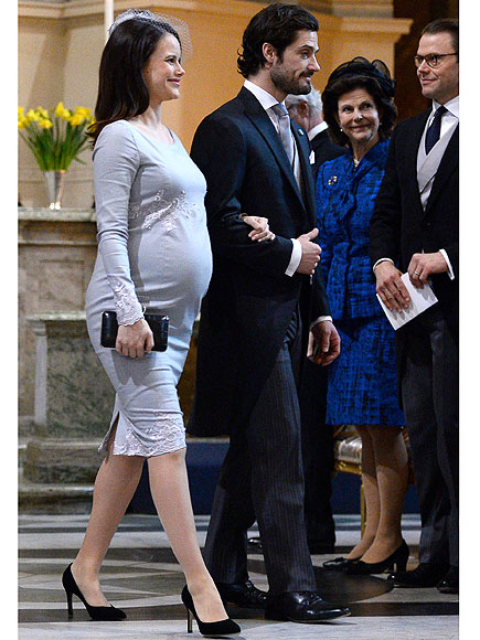 Princess Sofia Stuns in Baby Blue (Hint, Hint?) at 8 Months Pregnant