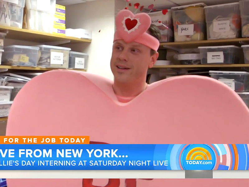 Willie Geist Interns for Saturday Night Live on Today Show