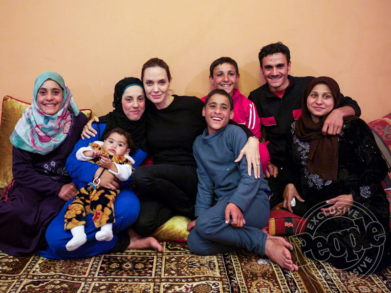 Angelina Jolie Pitt Reunites with Syrian Refugee Family (EXCLUSIVE PHOTOS)